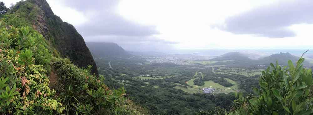 Kailua and Kaneohe Bay from the Pali